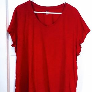 c8a985eeaaf jcpenney Tops - Womens JCPenney Red SS Shirt 😍 Plus Size 2X